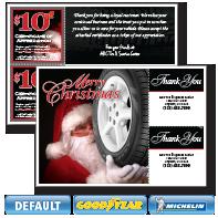 Santa Tire Postcard